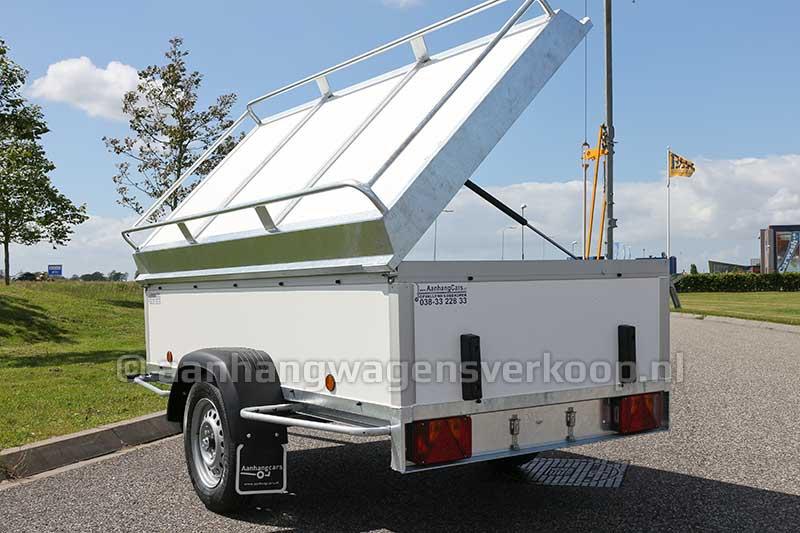 Bagage aanhangwagen met scharnieren deksel voorzien van imperial